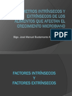 Clase 5.2-Parametros Intrinsecos y Extrinsecos de Los Alimentos Que Afectan El Crecimiento Microbiano