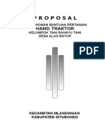 Proposal Permohonan Bantuan Alat Mesin Pertanian_hand Traktor_rahayu Tani