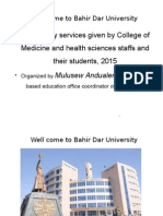 mmunity Services Given by the College of Medicine