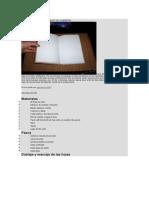 Cómo Encuadernar o Hacer Un Cuaderno