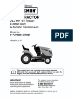 917.276901 Lawn Tractor Manual