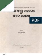 Studies in the Structure of Toba Batak - Sugamoto