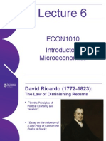 UQ Lecture 6 Introductory Microeconomics Econ1010