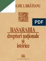Basarabia, Drepturi Naționale Și Istorice (Gheorghe Brătianu)