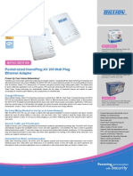 Billion Powerline HomePlug AV 200 Adapter Datasheet