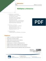 1eso Cuaderno 2 Multiplos y Divisores
