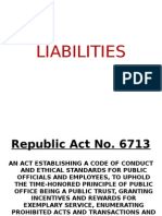 LIABILITIES of Public Officials