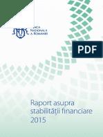 Raport Stabilitate Fin 2015