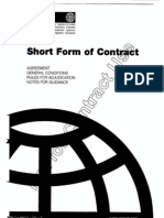 Fidic Short Contract
