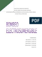 Bombeo Electro Sumergible Trabajo