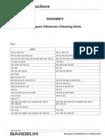 Bandelin Sonorex - Service Manual