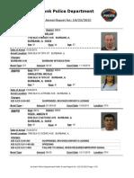 public arrest report for 23oct2015