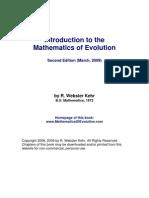 Mathematics of Evolution