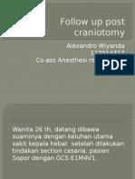 Follow Up Post Craniotomy