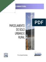 Parcelamento do Solo Urbano e Rural