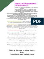 Manual de Jabones de Glicerina. Nociones Básicas.