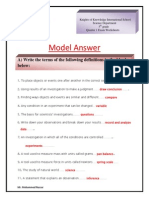 Worksheets Model Answer