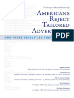 Americans Reject Tailored Advertising