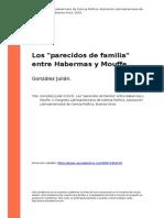Gonzalez Julian (2010). Los Parecidos de Familia Entre Habermas y Mouffe