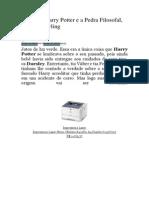 Resenha - Livro Harry Poter