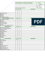 Check List - Inspeção Sanitária