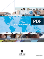 MSC in Finance Brochure