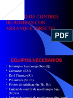 Tablero de Control de Bombas Con Arranque Directo