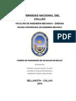 DISEÑO DEL SISTEMA DE TRANSMISION DE UN MOLINO DE BOLAS
