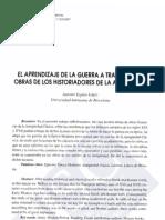 Antonio Espino López - El aprendizaje de la guerra a través de las obras de los historiadores de la Antigüedad