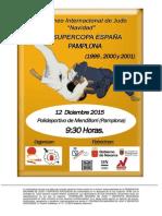 Circular Torneo Internacional Navidad- Supercopa Espana Cadete Pamplona 12-12-15
