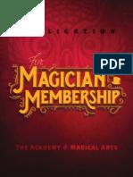 AMA Magician Membership Application June 2015