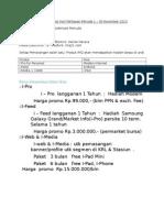Materi Promosi Hari Pahlawan Periode 1 - 30 November 2013
