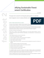 De-mystifying Sustainable Forest Management Certification