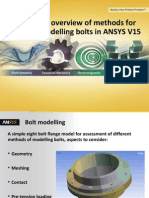 Bolt Modelling in ANSYS V15 an Overview
