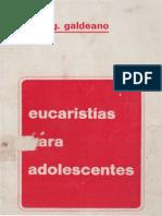 GALDEANO, J. - Eucaristia Para Adolescentes - PS, 2 Ed, 1976