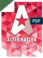 Plan de Gobierno Alternativa 2015-2016