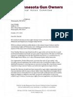 Letter to KARE-11 TV - October 2015 Gun Control Debate