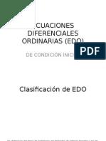 Ecuaciones Diferenciales Ordinarias (Edo)