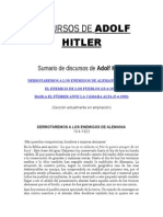 Discursos de Adolf Hitler - Alemania Nazi Tercer Third Reich Adolf Hitler Joseph Ratzinger