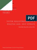 Voter Registration in a Digital Age
