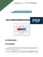 Cap. 7 - Campo Magnético e Força Magnética