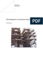 Risk Management in Construction Project Networks