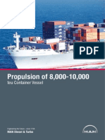 Propulsion of 8 000-10-000 Teu Container Vessel
