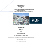 Marketing research project on awareness among people about  harm caused by polybag to the environment