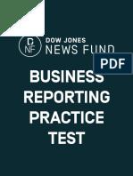 2012 DJNF Business Reporting Test Answer Key