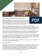 Lancement de La Campagne Nationale de Promotion Sur Le Livre