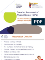 Canadian Assessment of Physical Literacy (CAPL)