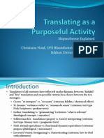 NORD; C. Translations as a Purposeful Activity