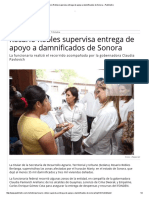 07-10-15 Rosario Robles supervisa entrega de apoyo a damnificados de Sonora – Publimetro