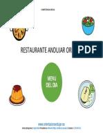 Menú Del Día en El Restaurante Andujar Orienta